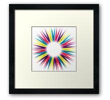 Abstract Rainbow Pegs Framed Print