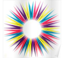 Abstract Rainbow Pegs Poster