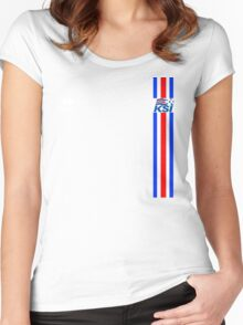 Euro 2016 Football - Iceland  Women's Fitted Scoop T-Shirt