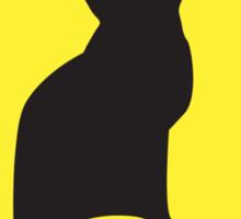 BEWARE cat sign Sticker