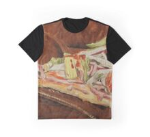 Pizza on suede jacket Graphic T-Shirt