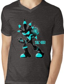 The Hedgehog Sonic Silver Mens V-Neck T-Shirt