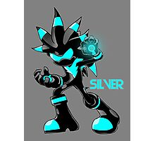 The Hedgehog Sonic Silver Photographic Print