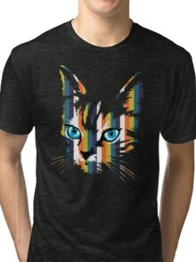POP ART CAT Tri-blend T-Shirt