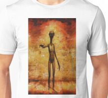 Alien Greeting by RT and Mb Unisex T-Shirt