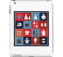 Household items on a colorful background iPad Case/Skin