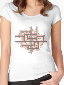 City maps Women's Fitted Scoop T-Shirt