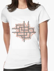City maps Womens Fitted T-Shirt