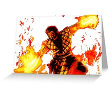 Blazes of Hell Greeting Card