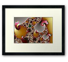 Mandelbrot and Spotty Slugs Framed Print