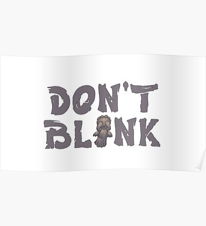 """Doctor Who """"Don't Blink"""" Poster"""