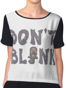"Doctor Who ""Don't Blink"" Chiffon Top"