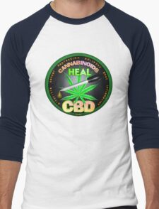 CBD Cannabinoids in Hemp oil Cures  learn truth about use of hemp oil to cure illness and pains. Men's Baseball ¾ T-Shirt