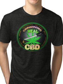 CBD Cannabinoids in Hemp oil Cures  learn truth about use of hemp oil to cure illness and pains. Tri-blend T-Shirt