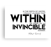 within: an invincible summer Canvas Print