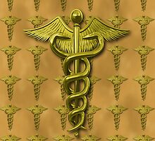 Gold Medical Profession Symbol by Packrat