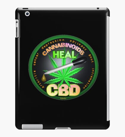 CBD Cannabinoids in Hemp oil Cures  learn truth about use of hemp oil to cure illness and pains. iPad Case/Skin