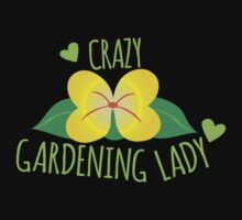 Crazy Gardening Lady Kids Tee