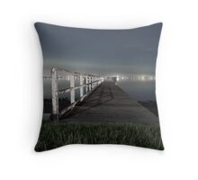 Jetty on Lake Throw Pillow