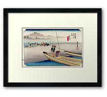 Mitsuke - Hiroshige Ando - 1833 - woodcut Framed Print