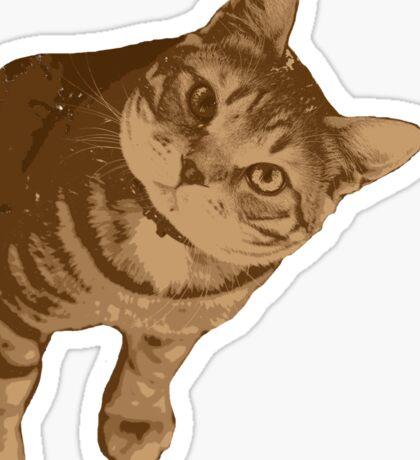 Portrait of cat Sticker