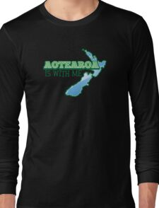 AOTEAROA is with me (New Zealand) Long Sleeve T-Shirt