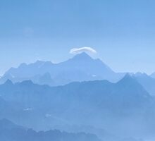 Mount Everest in the Himalayas by John Dalkin