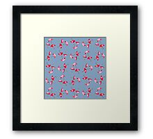 Watercolor Painted Umbrella Pattern Framed Print