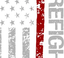 Firefighter American Pride Flag T-Shirt Sticker