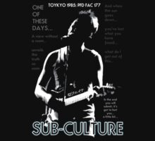 New Order - Sub-Culture Toyko 1985 PFD Design by Shaina Karasik