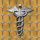 Silver Medical Caduceus by Packrat