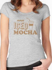 mmm ICED mocha Women's Fitted Scoop T-Shirt