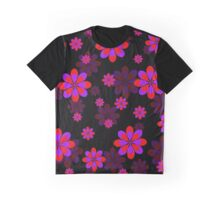 Purple Red Flowers Graphic T-Shirt