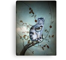 The Blue Cat Canvas Print