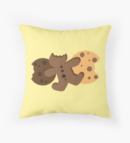 Cute gingerbread cookies and biscuits Throw Pillow