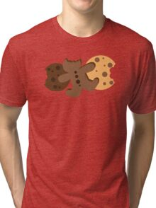 Cute gingerbread cookies and biscuits Tri-blend T-Shirt