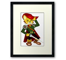 Puss 'N Boots Framed Print