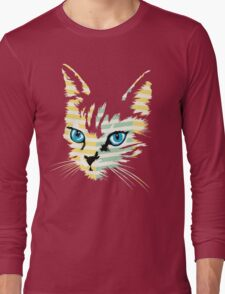 POP ART CAT Long Sleeve T-Shirt