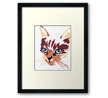 POP ART CAT Framed Print
