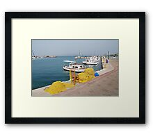 Fishing nets and boats, Agistri Framed Print