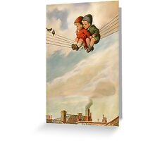 Like two birds on a wire Greeting Card