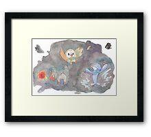 POkemon Sun and Moon  Framed Print