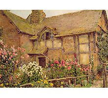 A Cottage garden in Cholstry, Rowe Photographic Print