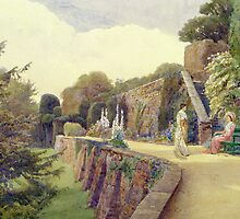 The Terrace at Berkeley Castle, Gloucestershire by Bridgeman Art Library