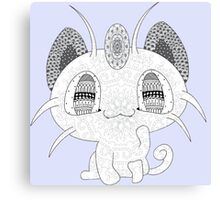 Pokemon Meowth Canvas Print