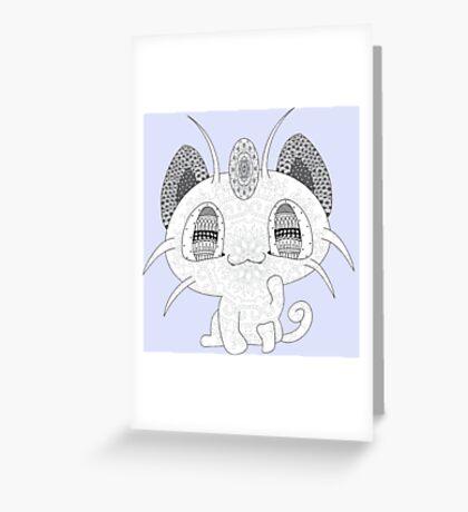 Pokemon Meowth Greeting Card