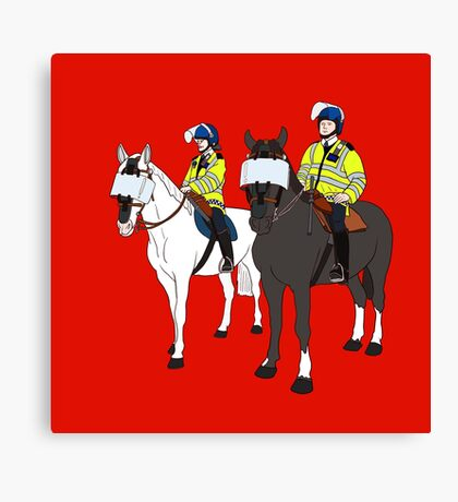 London Metropolitan Horse Cops Canvas Print