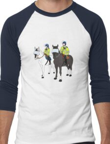 London Metropolitan Horse Cops Men's Baseball ¾ T-Shirt