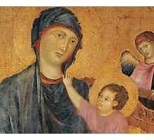 Madonna and Child Enthroned with Two Angels Photographic Print