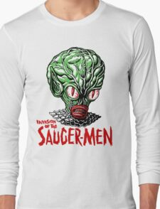INVASION of the SAUCER MEN!!! Long Sleeve T-Shirt